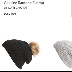 Linda Richards genuine raccoon hat